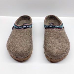 HAFLINGER GRIZZLY CLASSIC WOOL FELT CLOGS US 9